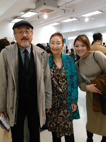 西川眞知子先生とバッタリ、モデルの方もいました